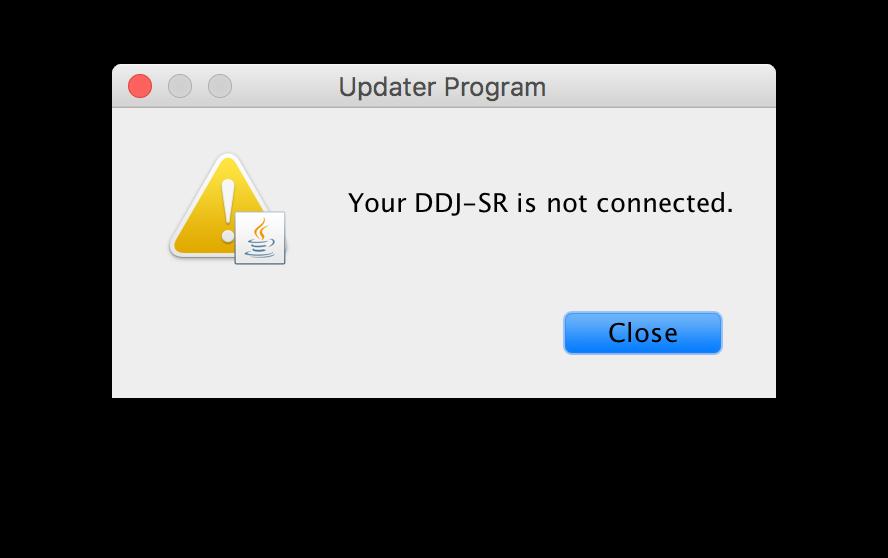 ddj-sr-not-connected