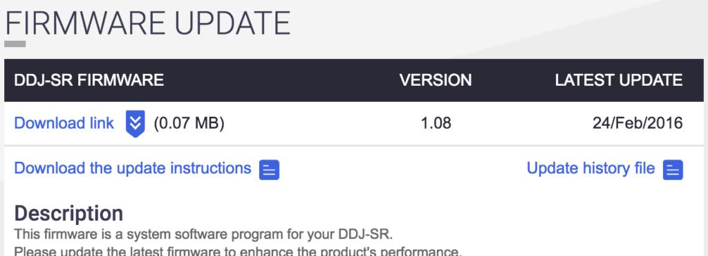 download-firmware-ddj-sr