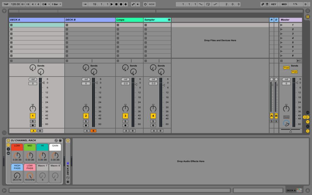 DJing в Ableton Live шаблон проекта