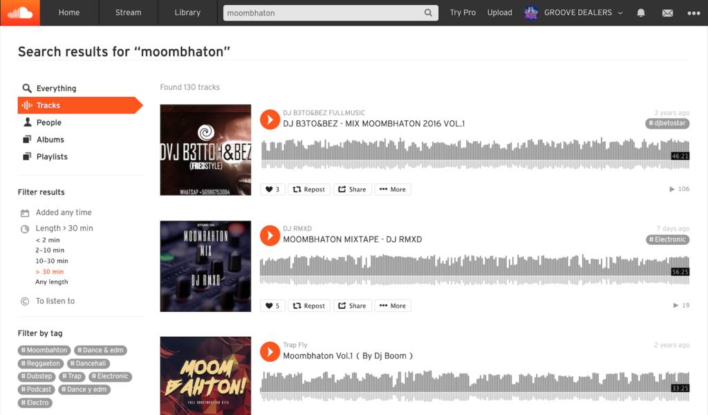 Слушать диджейские миксы на SoundCloud