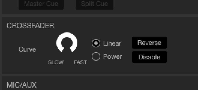 Настройка кроссфейдера для скретча в Serato DJ Pro